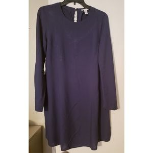 H&M Navy Button Down Mid Dress